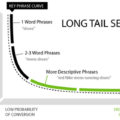 grafico long tail keyword coda lunga